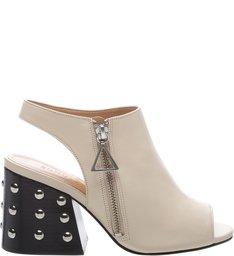 Open Boot Studs White
