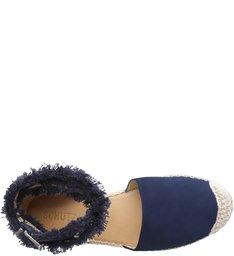 Flat Espadrille Lace Up Dress Blue