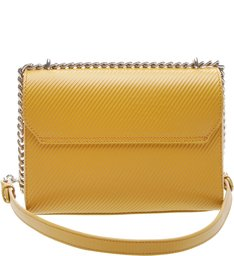 The S Bag Couro Média Rib Yellow