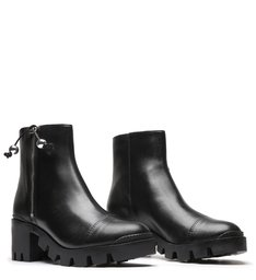 Tractor Boot Block Heel Black