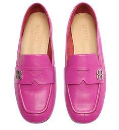 Sapato Mocassim Couro Pink