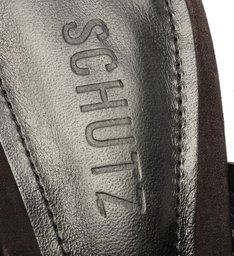 Sapato Mule Salto Fivela Nobuck Preto