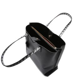 Shopping Bag Minimal Triangle Black