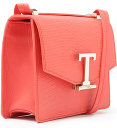 Crossbody Square Letters Coral