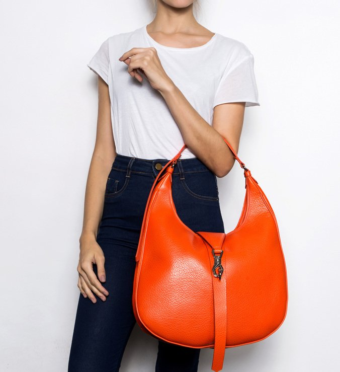 Maxi Hobo Bag Berta Orange