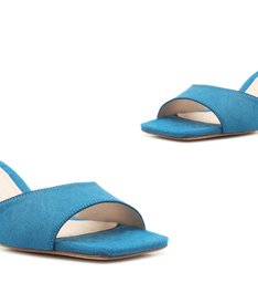 Sandália Mule New Minimal Soft Blue