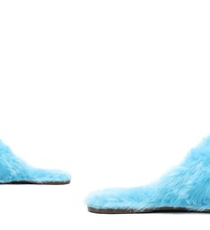 Sandália Rasteira Slide Live In Alpaca Azul