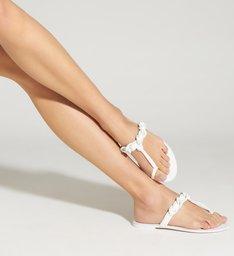 Sandália Rasteira Freshfull 60's White