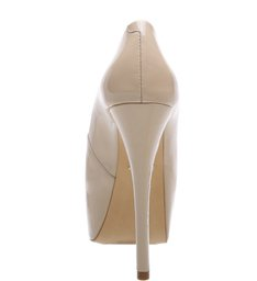 Sapato Peep Toe Super High Nude