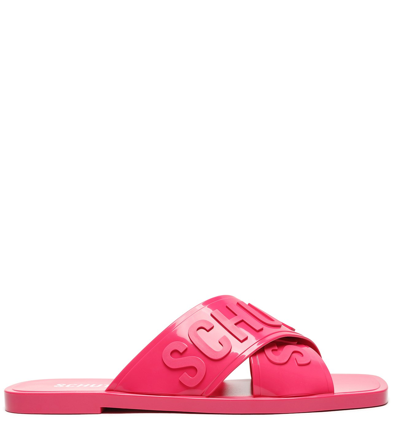 Rasteira De X Logo Schutz Jelly Pink | Schutz