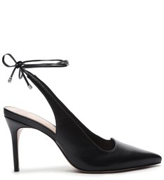 Schutz x Ginger Scarpin Lace-Up Black