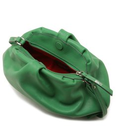 CLUTCH AVRIL LEATHER GREEN