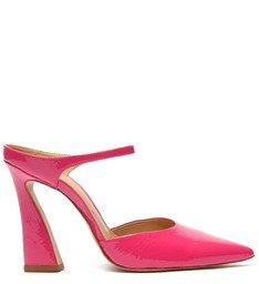 Sapato Scarpin Mule Verniz Pink