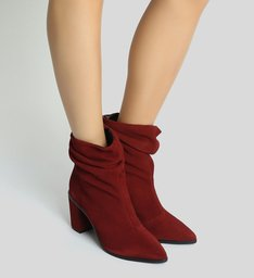 Bota Nobuck Slouchy Red Brown