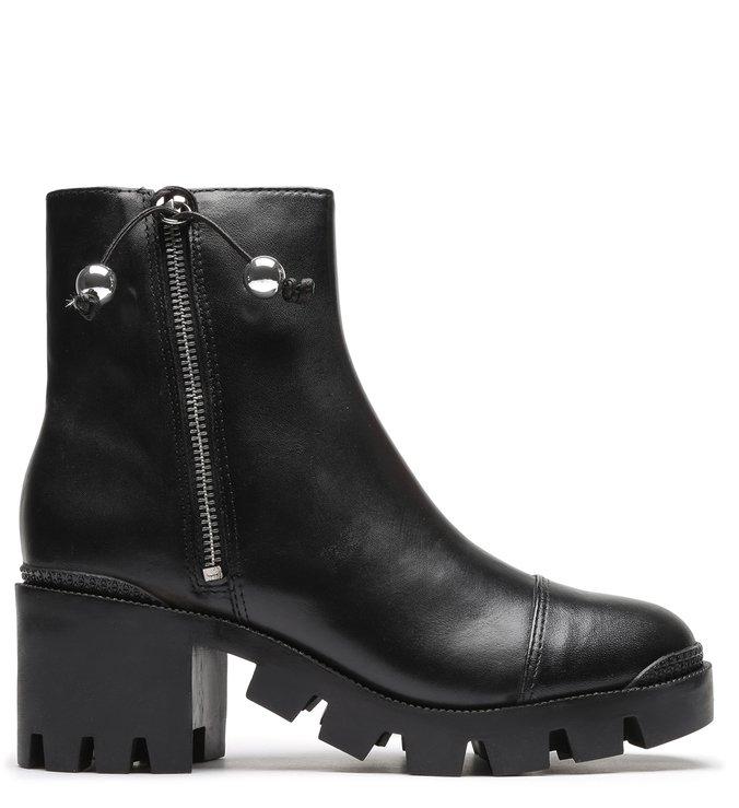 Tractor Boot Block Heel Black