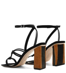 Sandália Strings Zebra Heel Black