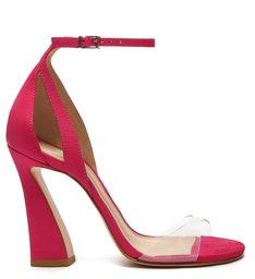 Sandália Salto Arquitetônico Vinil Pink