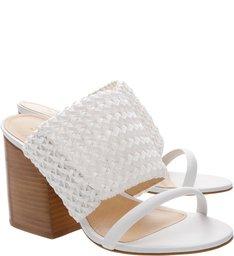 Sandália Mule Stretch White