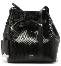 EMILY MINI BUCKET BRIGHT SNAKE BLACK