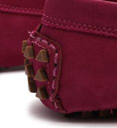 Sapato Mocassim Triangle Nobuck Rosa Escuro