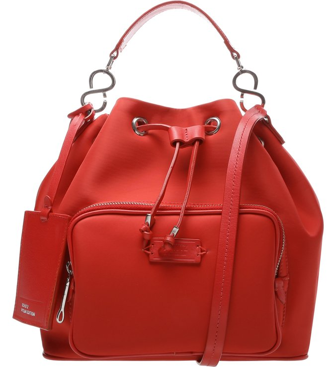 Bucket Bag Nylon Red
