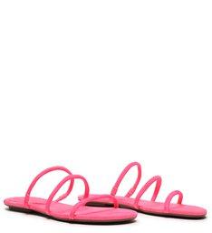 Sandália Rasteira Arc Neon Rosa