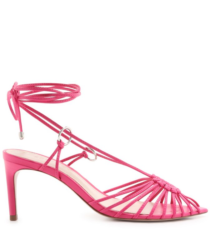 Sandália Mid Lace-Up Strings Pink