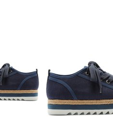 SNEAKER FLATFORM SPORTY NATURAL BLUE