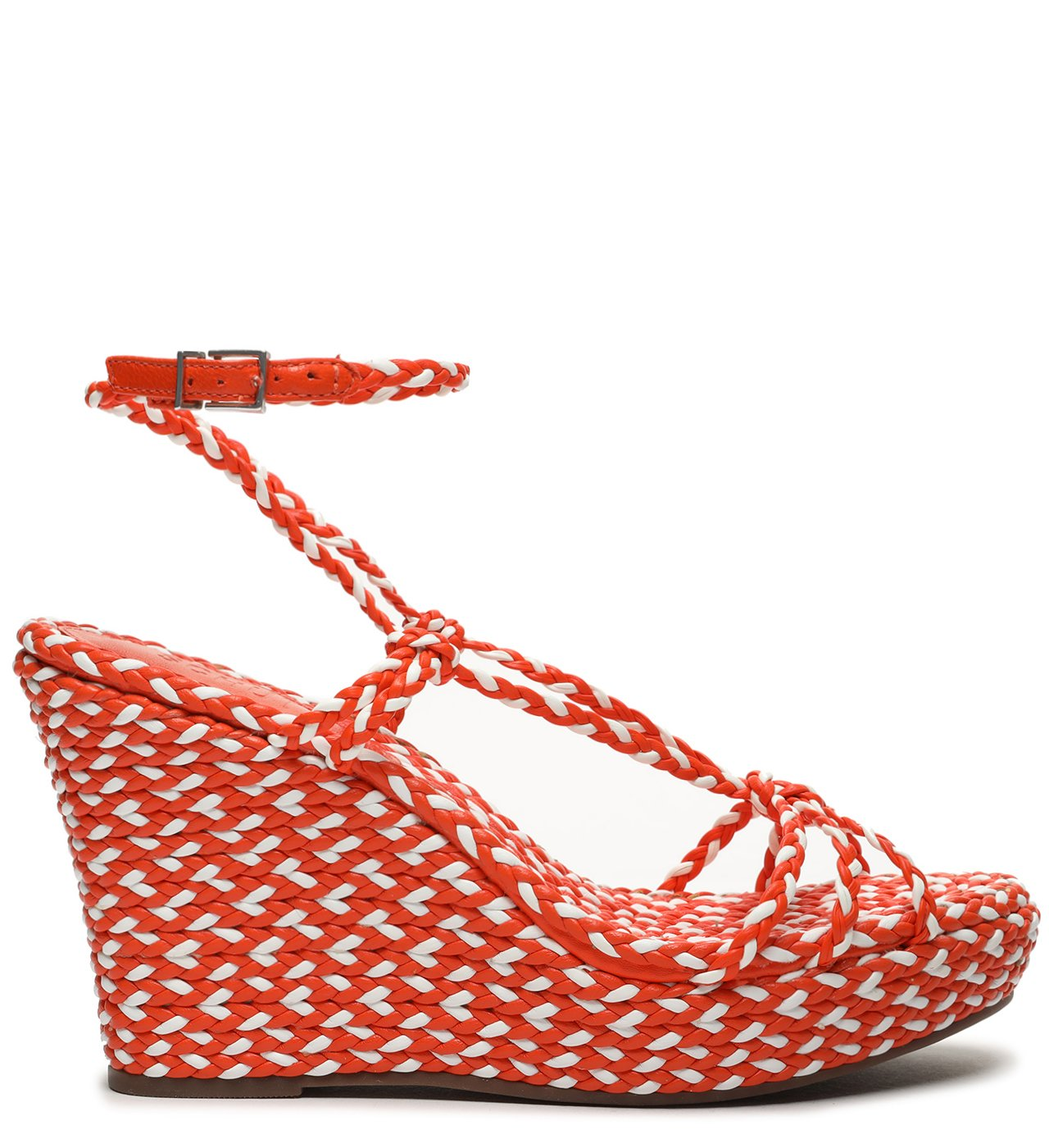 Sandália Anabela Freshfull Braid Orange | Schutz