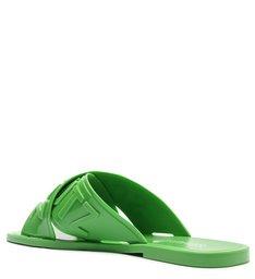 Sandália Rasteira de X Jellys Verde