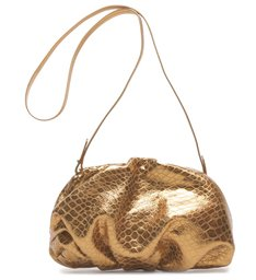 Clutch Avril Croco Metallic Bronze