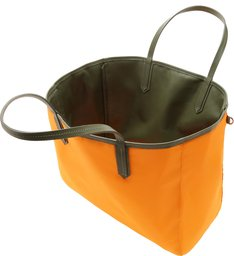 SHOPPING BAG DOUBLE SIDE NYLON GREEN