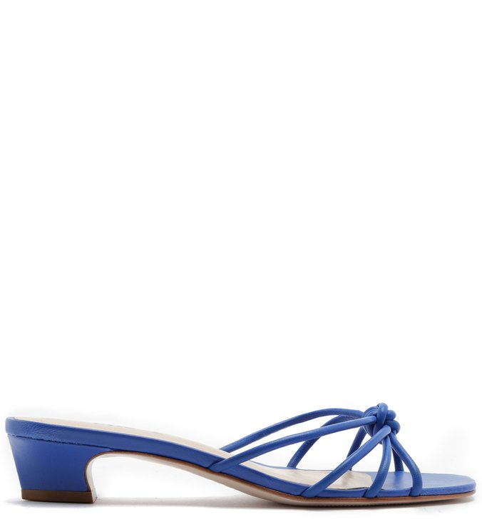 MULE STRINGS MICRO HEEL POP BLUE