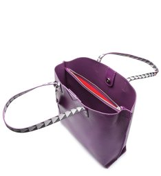 Shopping Bag Minimal Triangle Purple