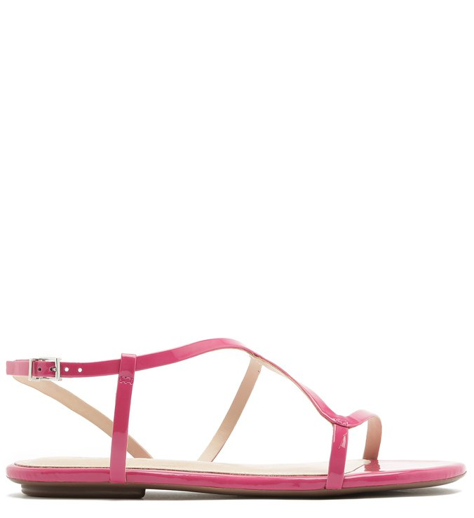 Sandália Rasteira Curves Verniz Pink | Schutz