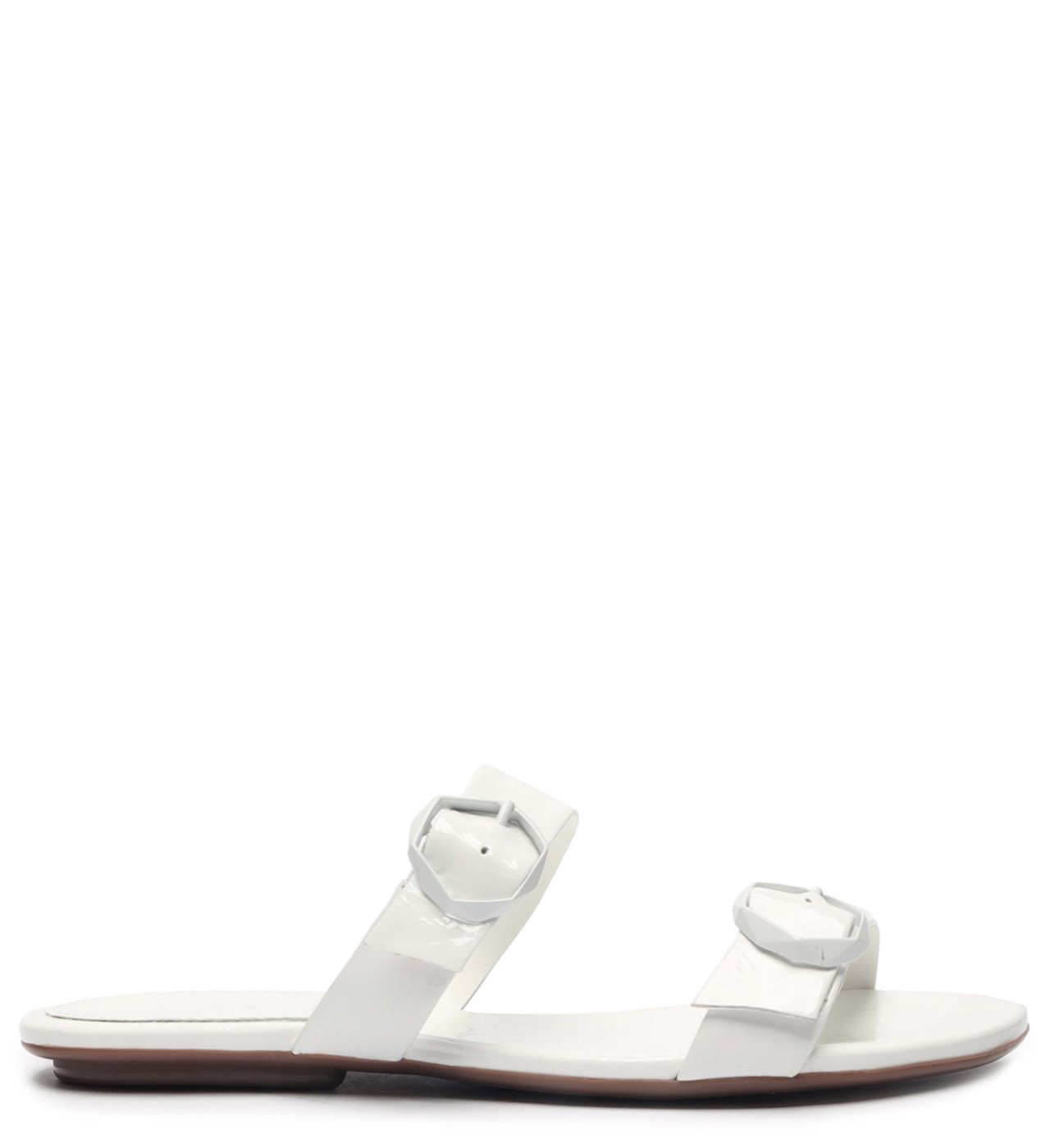 Flat Minimal Pop Buckle White | Schutz