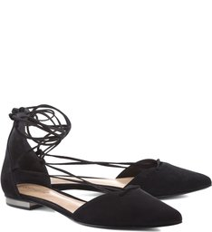Sapatilha Lace Up Black