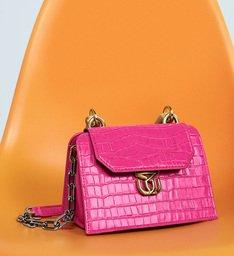 Crossbody Believe Bright Croco Pink