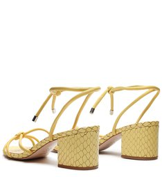 Sandália Block Heel Trama Yellow
