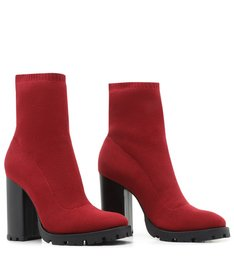 SOCK BOOT HIGH RED
