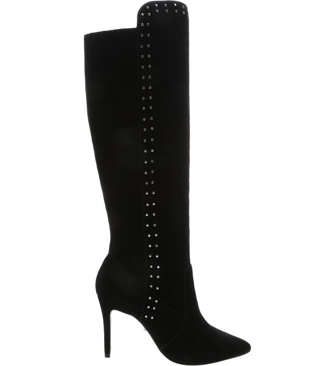 Knee-High Boot Slouchy Studs Black | Schutz
