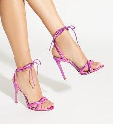 Sandália Delicate Metallic Pink