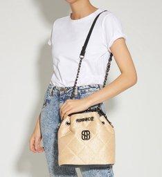 Bucket Bag Precious Ráfia Natural