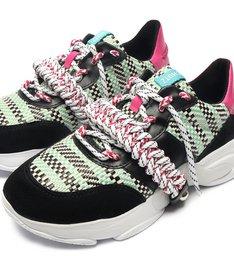 Dad Sneaker Tricô Colors Black