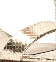 Sandália Minimal Block Heel Snake Platina