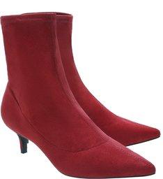 Bota Kitten Heel Red