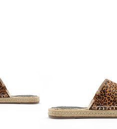FLAT OPEN ESPADRILLE ANIMAL PRINT