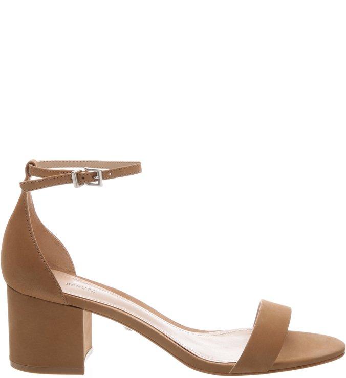 Sandália Minimal Block Heel Brown