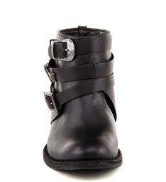 Ankle Boot Preta Com Estrelas