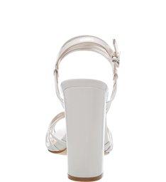 Sandália Salto Strings White
